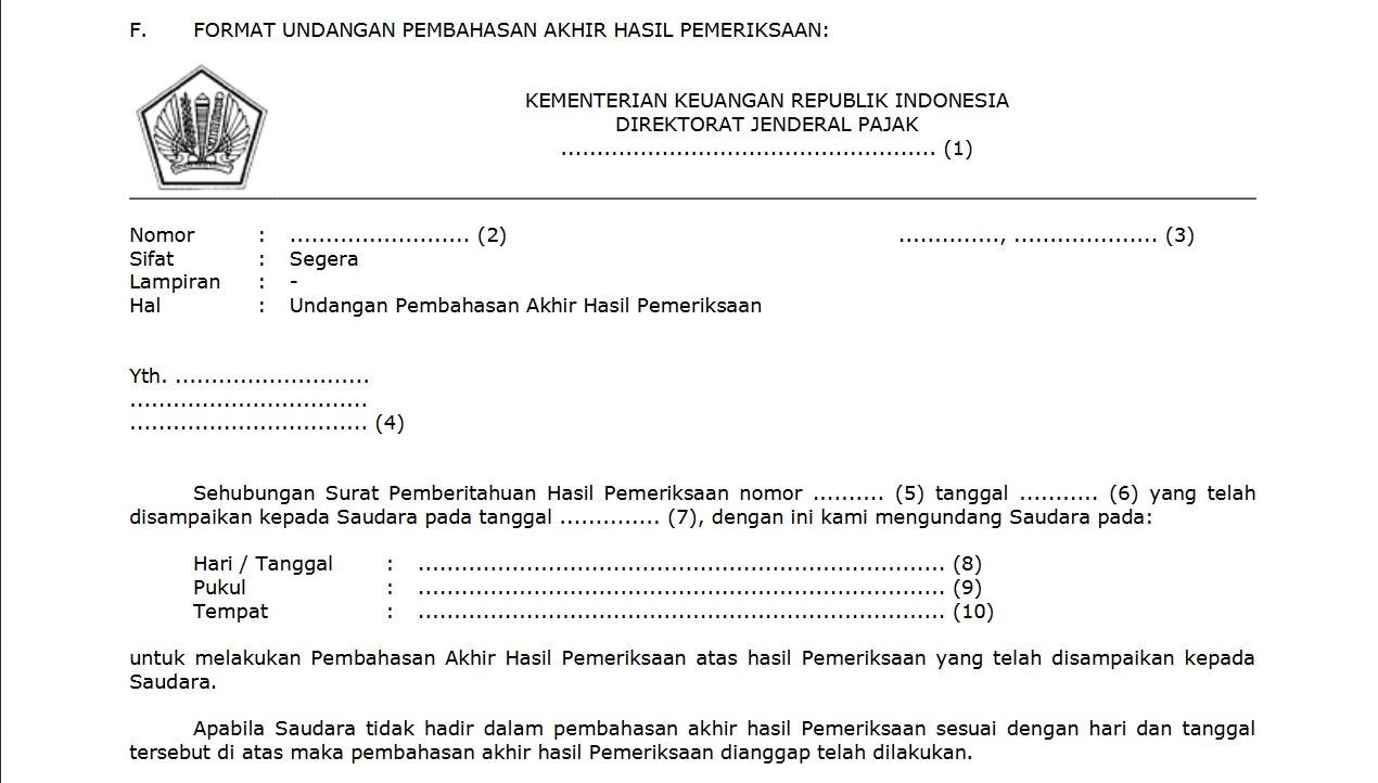 Surat Pemberitahuan Hasil Pemeriksaan Sekarang Bisa Direvisi